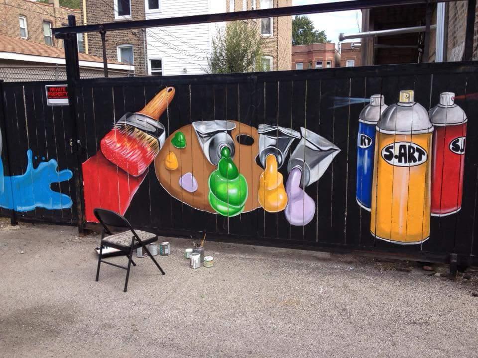 Mini Mural Workshops with Steven Gordon (3/3)